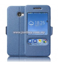 Asus Zenfone 4 Window View Flip Cover - Blue